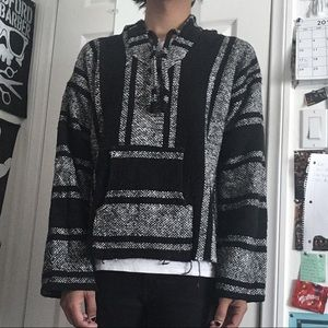 Other - Black & White Baja Hoodie
